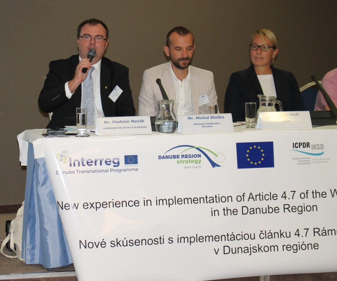 NEW EXPERIENCE IN IMPLEMENTATION OF ARTICLE 4.7 OF THE WATER FRAMEWORK DIRECTIVE (WFD) IN THE DANUBE REGION